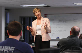 Dr. Brenda Bannan teaching in classroom