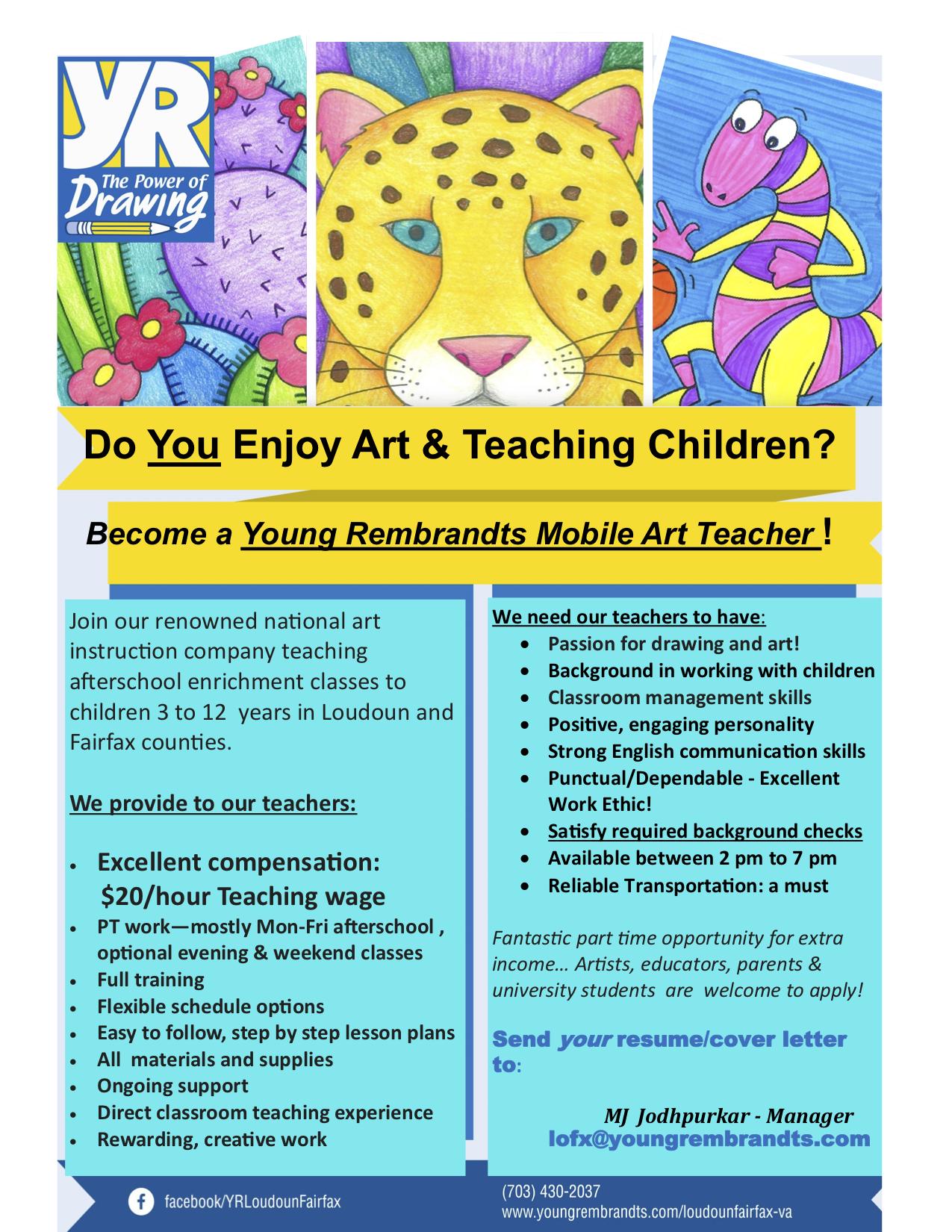 Art Teacher Jobs Part Time